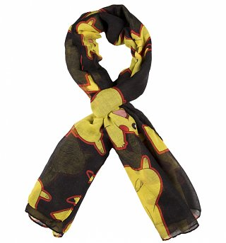 Black Pokemon Pikachu Lightweight Scarf