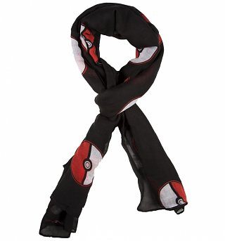 Black Pokemon Pokeball Lightweight Scarf