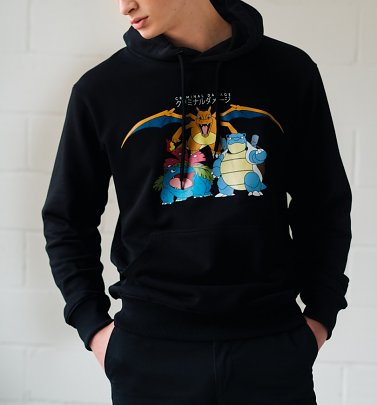 Black Pokemon Starters Hoodie from Criminal Damage