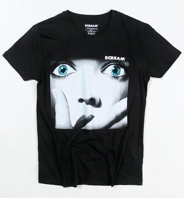 Black Scream Poster T-Shirt from Difuzed