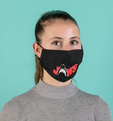 Black Shark Teeth Jaws Face Mask from Difuzed
