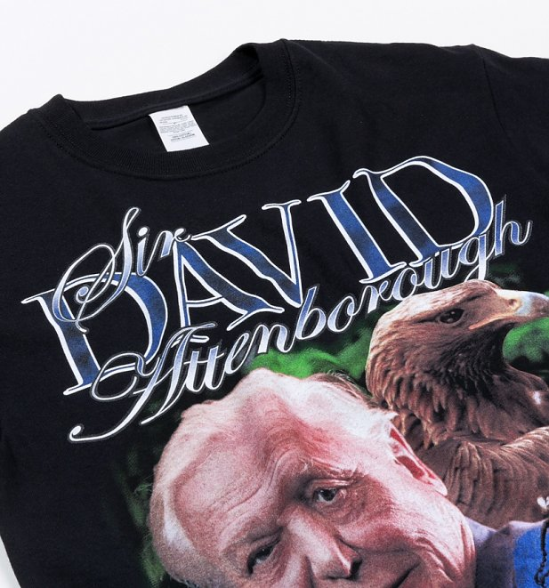 Black Sir David Attenborough T-Shirt from Homage Tees