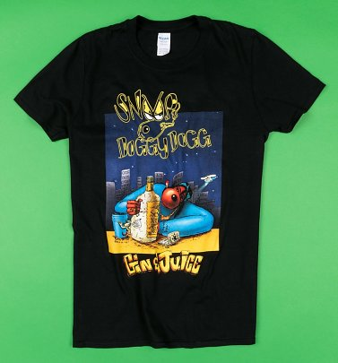 Black Snoop Doggy Dogg Gin and Juice T-Shirt