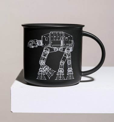 Black Star Wars At-AT Walker Vintage Mug
