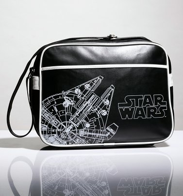 Black Star Wars Millennium Falcon Messenger Bag