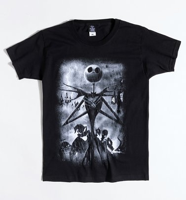 Black Stormy Skies Nightmare Before Christmas T-Shirt