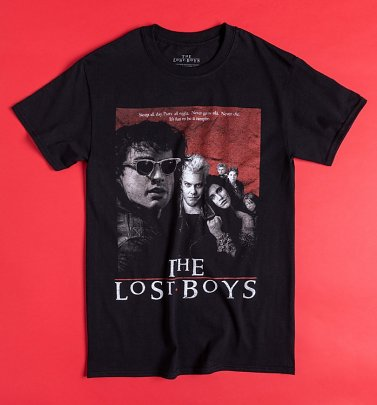 Black The Lost Boys Movie Poster T-Shirt
