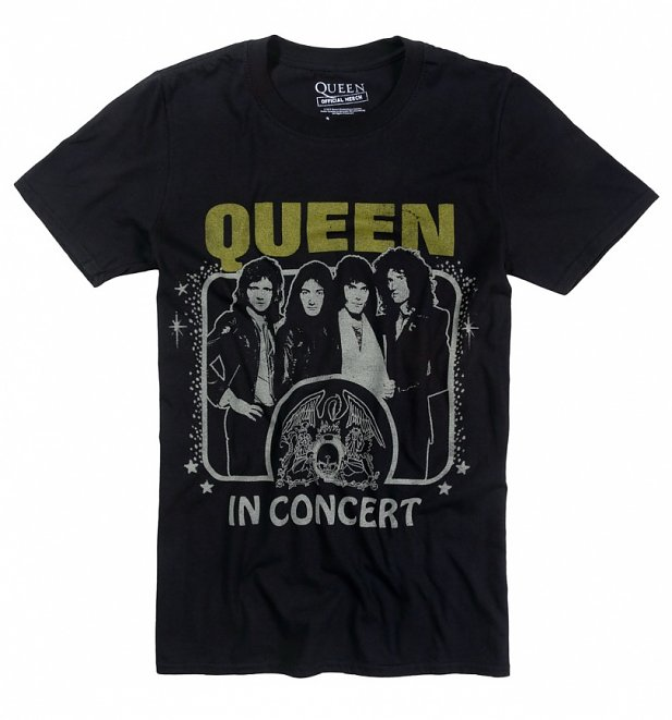 Black Vintage Queen In Concert T-Shirt