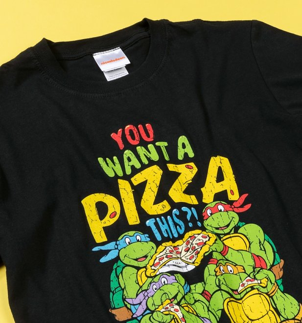 Black You Want A Pizza Teenage Mutant Ninja Turtles T-Shirt