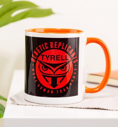 Blade Runner Inspired Tyrell Orange Handle Mug