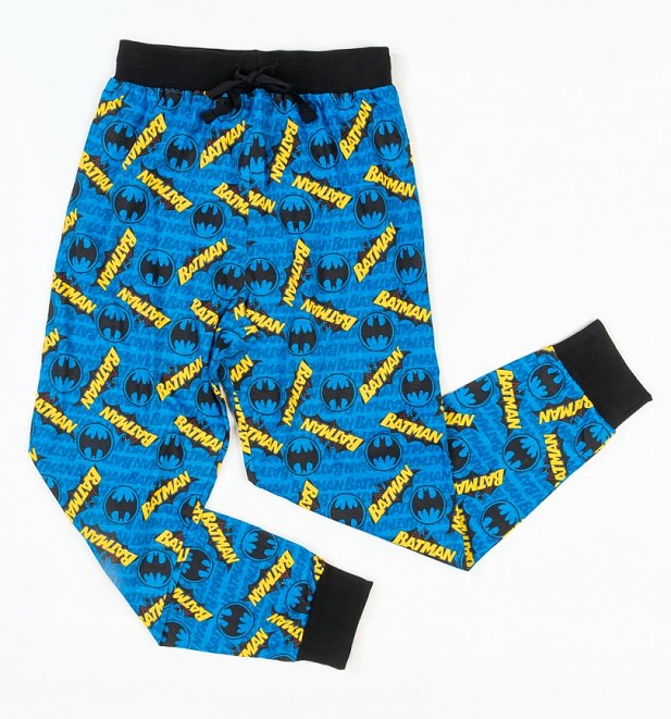 Blue Batman Cuffed Loungepants
