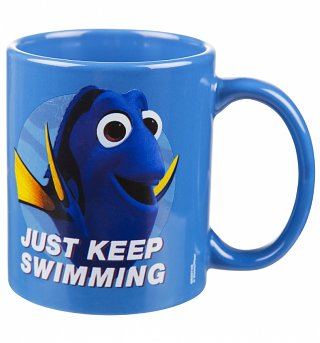 Blue Just Keep Swimming Finding Dory Mug