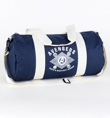 Blue Marvel Comics Avengers Barrel Sports Bag