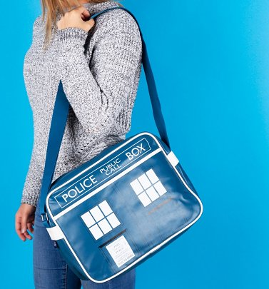 Blue Tardis Doctor Who Messenger Bag