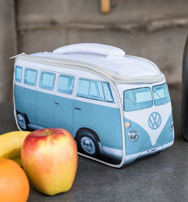 Blue VW Camper Van Lunch Bag