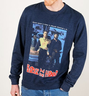 Boyz N The Hood Heather Navy Sweater