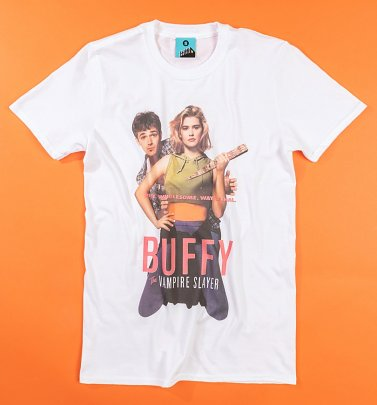 Buffy The Vampire Slayer Movie Poster White T-Shirt