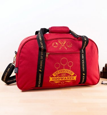 Burgundy Harry Potter Hogwarts Gryffindor Quidditch Holdall Bag
