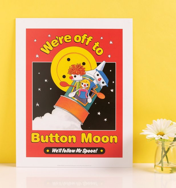 "Button Moon 11"" x 14"" Art Print"