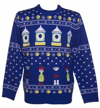 Unisex Button Moon Fair Isle Knitted Jumper