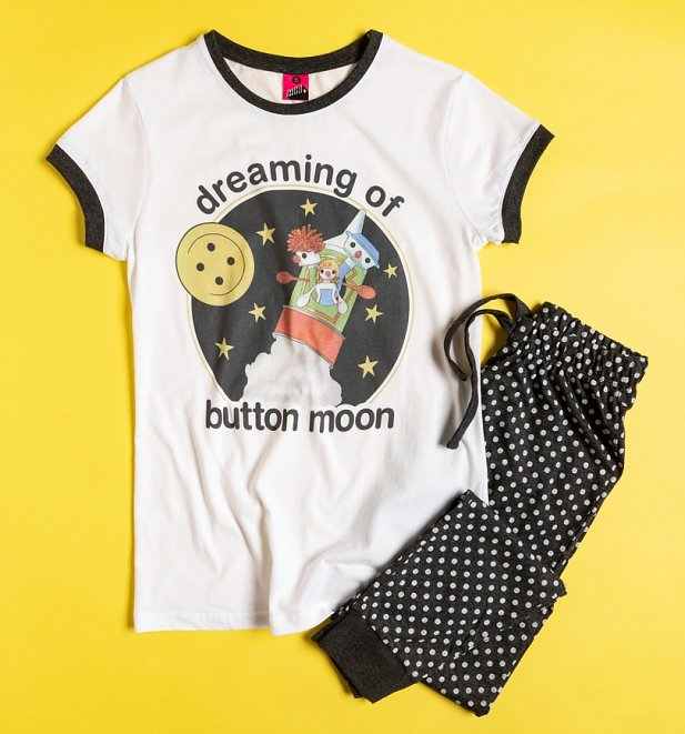 Button Moon Pyjama Set