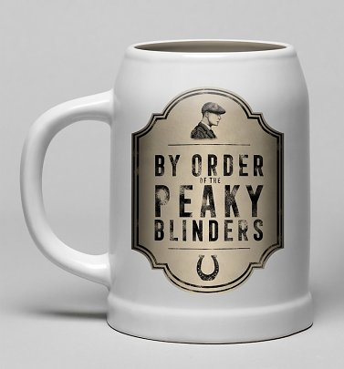 By Order Of The Peaky Blinders Ceramic Stein Mug