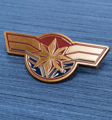 Captain Marvel Enamel Pin Badge