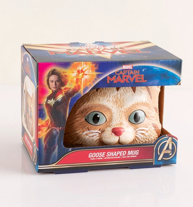 Captain Marvel Goose Shaped Mug