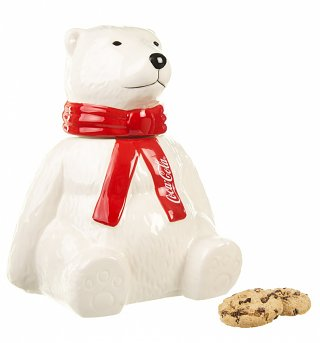 Ceramic Coca-Cola Polar Bear Storage Jar