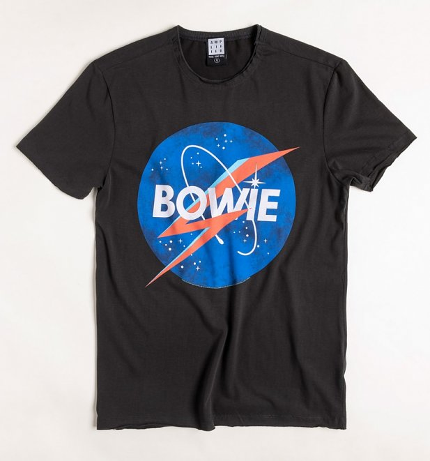 Charcoal Bowie To The Moon T-Shirt from Amplified
