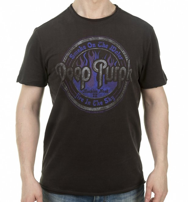 Charcoal Deep Purple Smoke On The Water T-Shirt from Amplified
