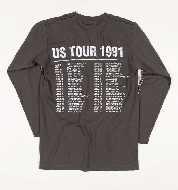 Charcoal Guns N Roses Long Sleeve 1991 Tour T-Shirt