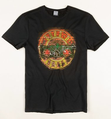 Charcoal Guns N Roses Neon Sign T-Shirt from Amplified