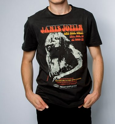 Charcoal Janis Joplin Madison Square T-Shirt from Amplified