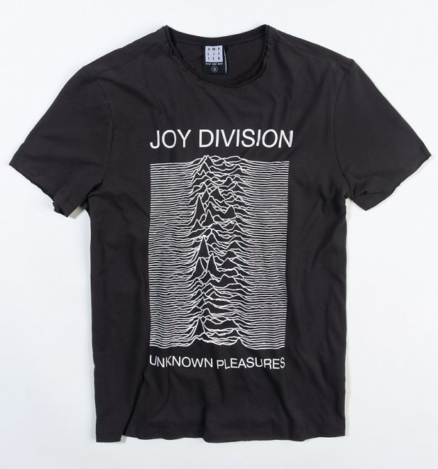 Charcoal Joy Division Unknown Pleasures T-Shirt from Amplified