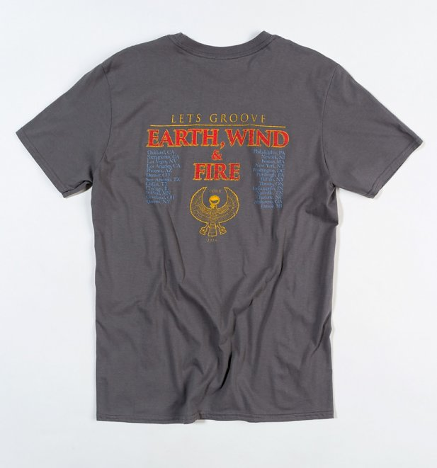 Charcoal Earth, Wind & Fire Let's Groove T-Shirt with Back Print