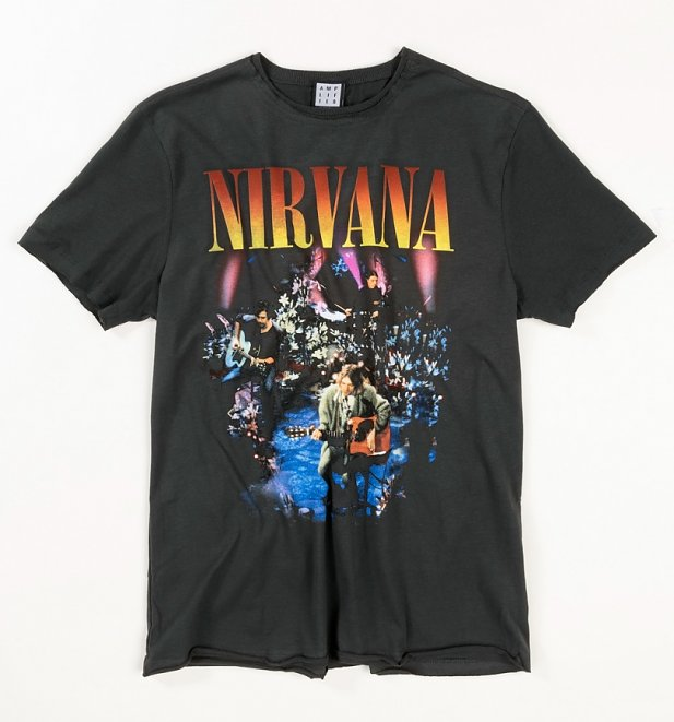 Charcoal Nirvana MTV Unplugged In New York T-Shirt from Amplified