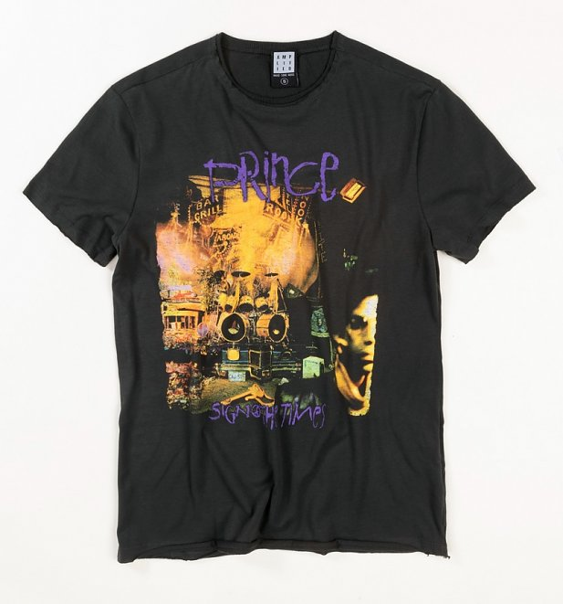 Charcoal Prince Sign 'O' The Times T-Shirt from Amplified