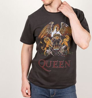 Charcoal Queen Royal Crest T-Shirt from Amplified