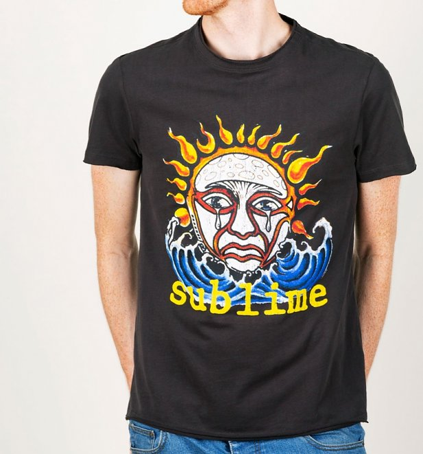 Charcoal Sublime Ska Sun Logo T-Shirt from Amplified