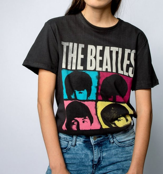 Charcoal The Beatles Hard Day's Night T-Shirt from Amplified