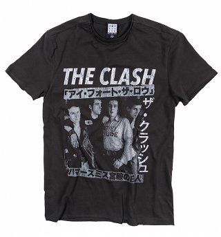 Charcoal The Clash Tour Poster T-Shirt from Amplified