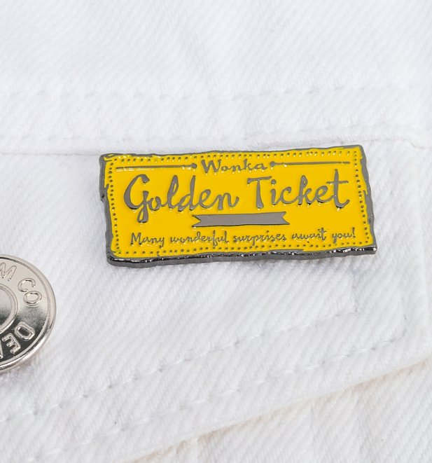 Charlie And The Chocolate Factory Golden Ticket Enamel Pin