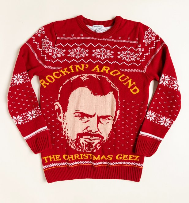 Christmas Geez Knitted Danny Dyer Jumper from Not Just Clothing