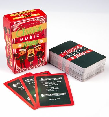 Christmas Music Trivia Cards