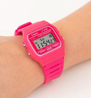 Classic Hot Pink Watch F-91WC-4AEF from Casio