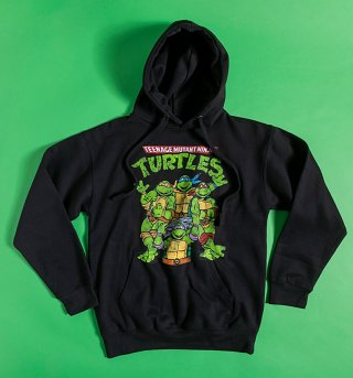 Classic Teenage Mutant Ninja Turtles Black Hoodie