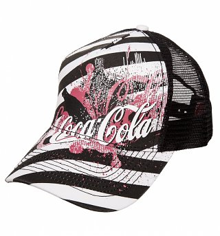 Coca-Cola Black And White Trucker Cap