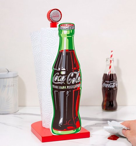 Coca-Cola Bottle Wooden Kitchen Roll Holder