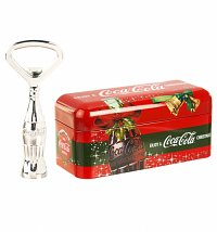 Coca-Cola Christmas Contour Bottle Opener In Mini Tin